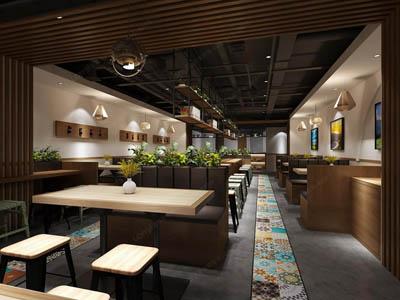 <b>260平方兰州牛肉拉面馆的装修设计精美作品</b>