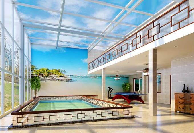 <b>南阳400平方自建别墅简欧风格装修设计作品</b>