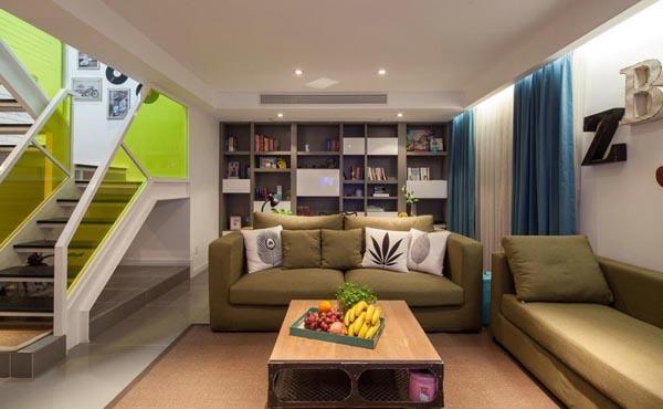 南阳116平方LOFT公寓楼装修设计时尚风格经典实景