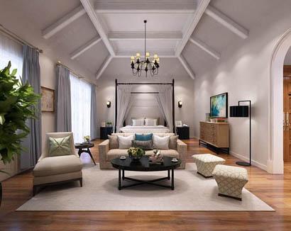 <b>南阳360平方独栋别墅美式风格装修设计作品</b>