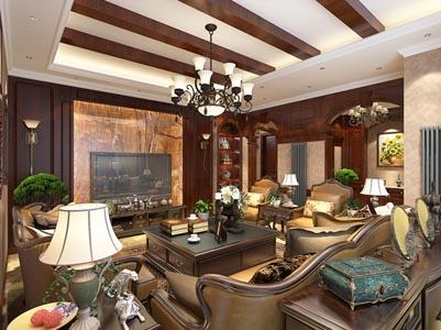 <b>南阳邓州现代美式风格装修设计经典别墅作品</b>