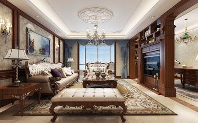 <b>南阳自建房200平方美式风格装修设计豪华作品</b>