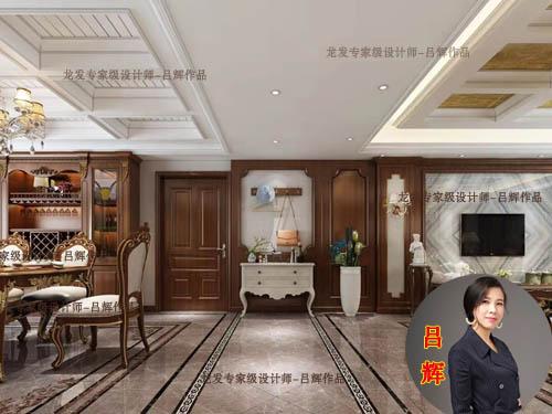 南阳三川御锦台5号楼190平装修效果图