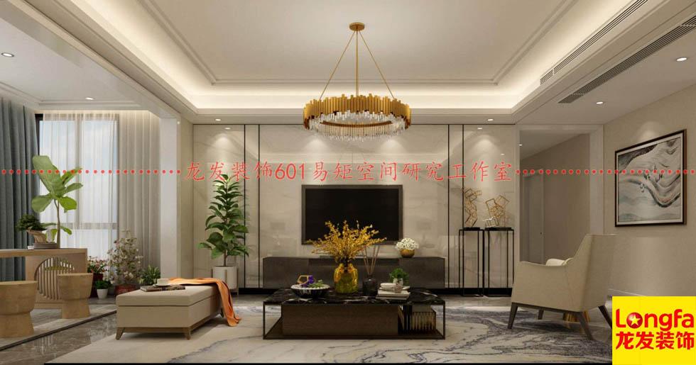 <b>南阳善水居小区140平现代风格装修作品龙发华璞</b>