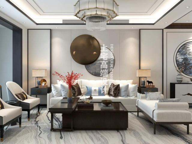 <b>南阳镇平上河院170平方新中式经典装修设计作品</b>