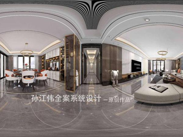 <b>南阳西峡财富新城189平方意式轻奢风格装修设计</b>