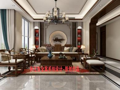 <b>南阳怡博花园285平方新中式孙江伟设计作品</b>